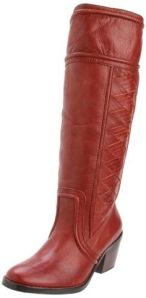brown side weave Fossil boot