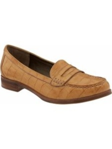"""leather """"croc"""" BR loafer"""