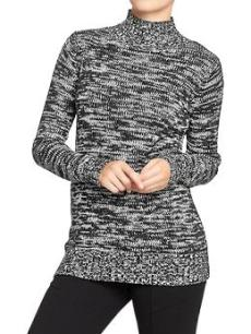 marled mock neck sweater, $15