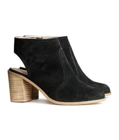H&M open heel suede booties $35
