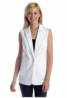 Chaus Sleeveless Pique Vest