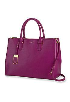 Ralph Lauren Newbury double zip satchel
