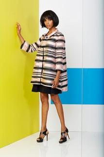 Pink Tartan: Scoop Neck Dress $295, Swing Coat $795